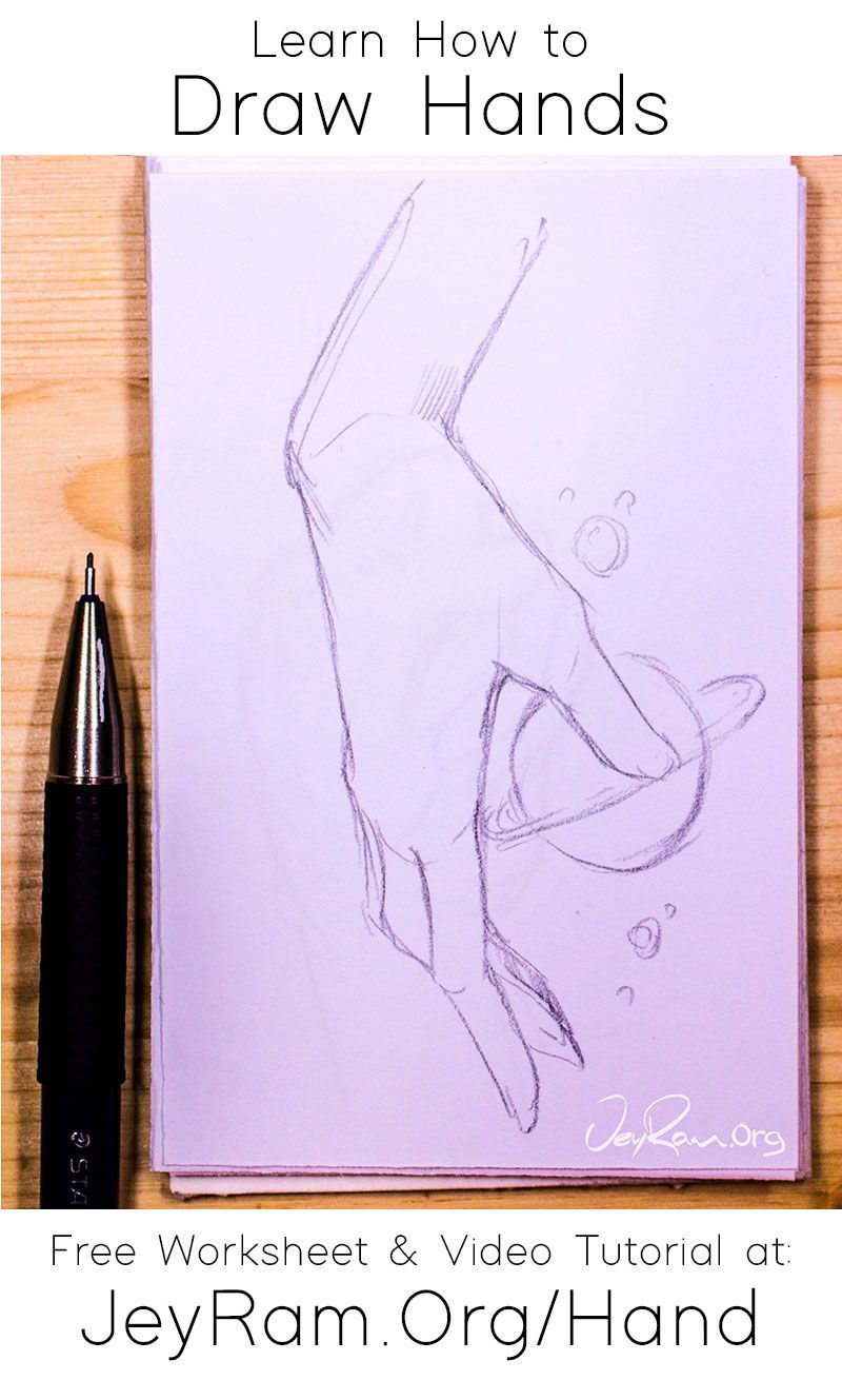 How To Draw Hands Free Worksheet Video Tutorial In 2020 How To Draw Hands Drawing Tutorial Easy Drawings