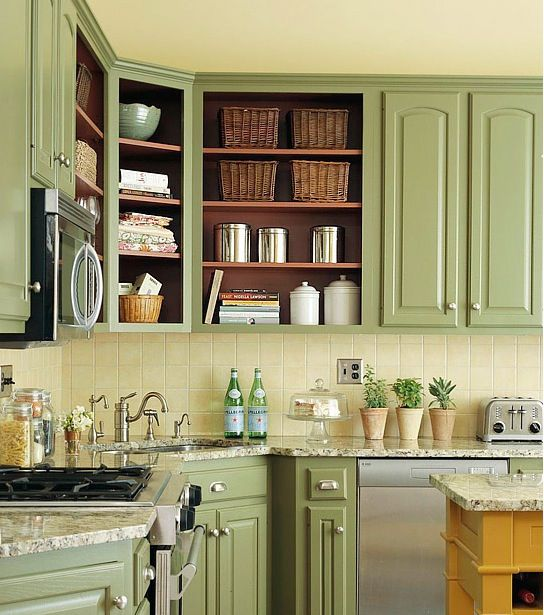 no cupboard doors kitchens in 2019 green kitchen cabinets home kitchens kitchen remodel on kitchen cabinets no doors id=77693