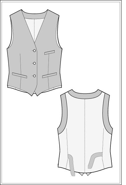 Weste nähen - S -TOMMY WAISTCOAT – Sewing Pattern - Vest UK10 ...