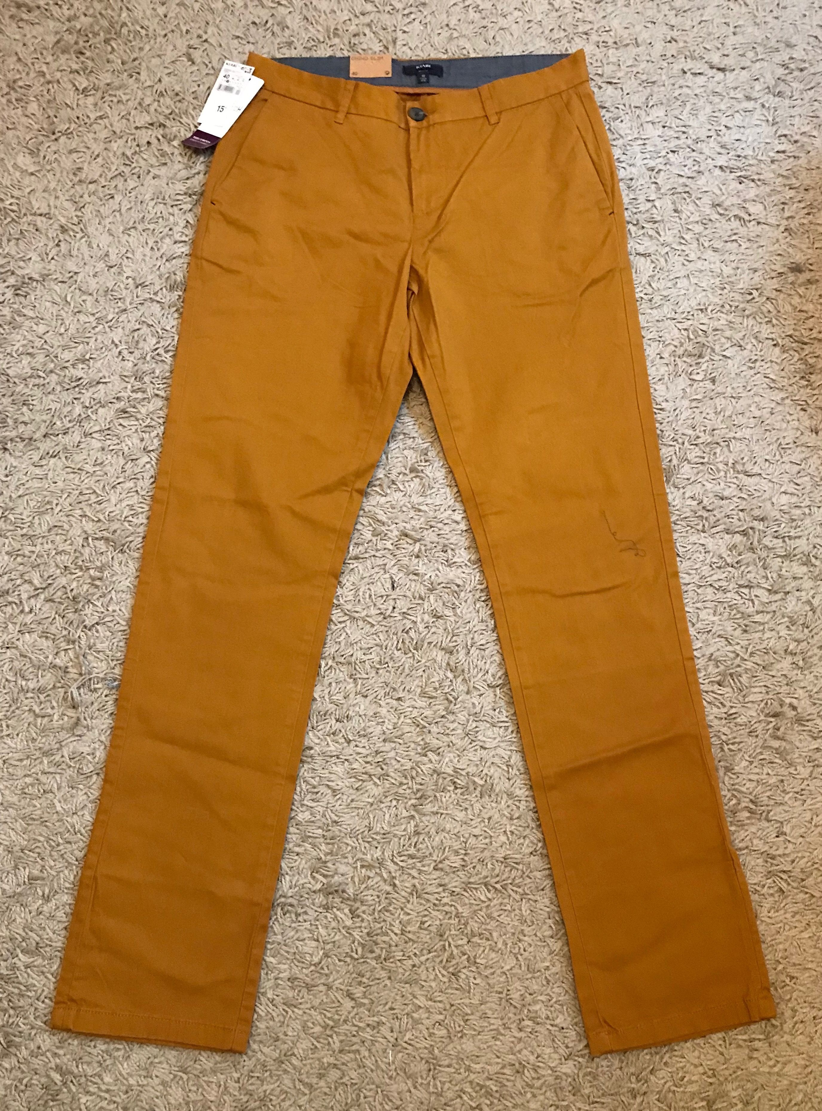 pantalon orange homme zara