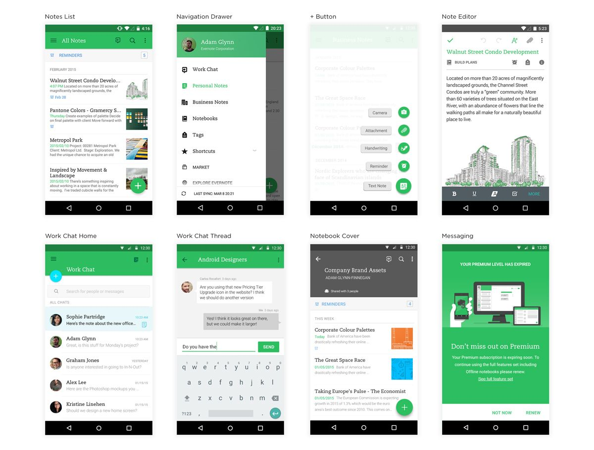 Evernote Material Design Update Adam Glynn Finnegan Android
