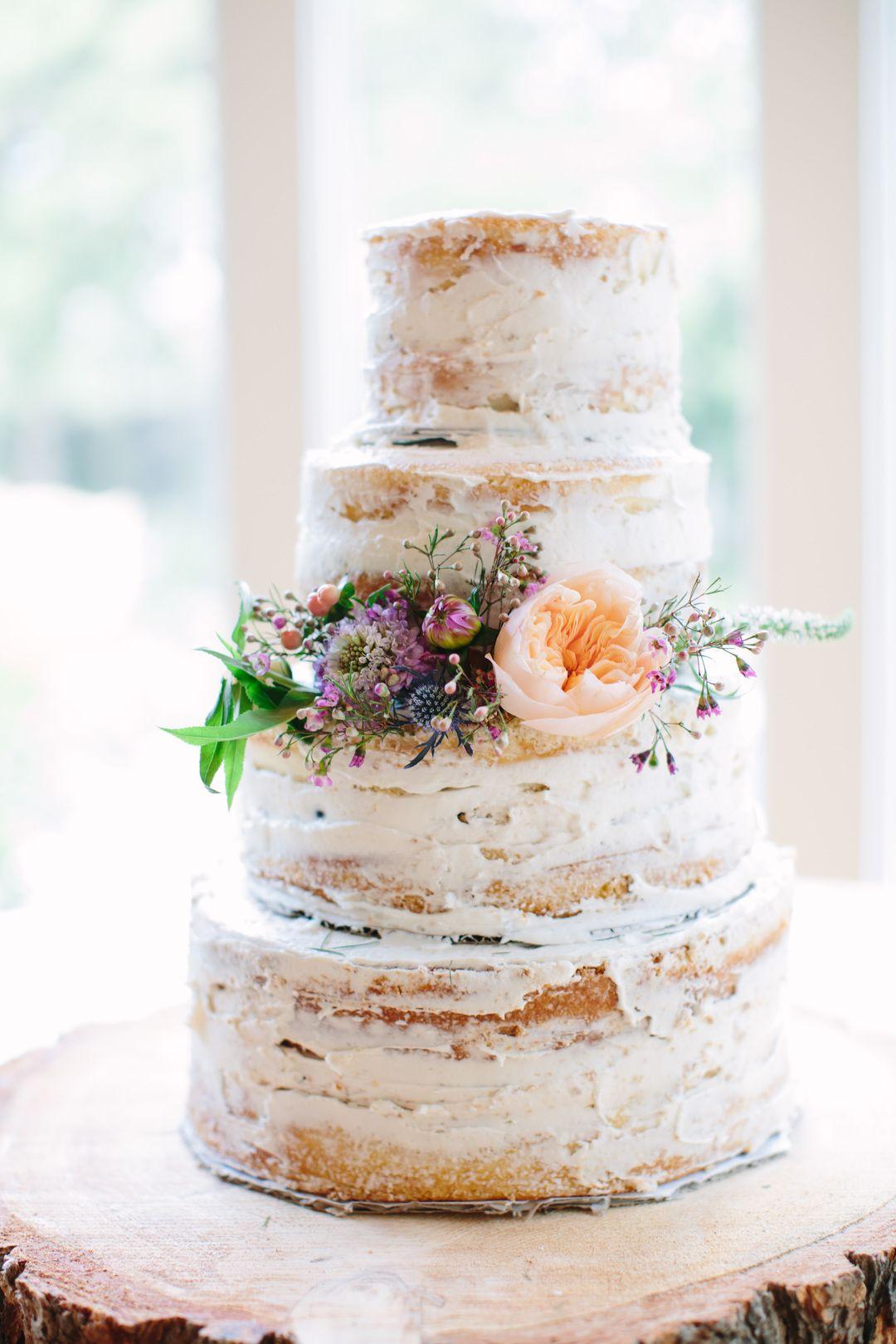 Classic Wedding At Zaza Gardens, San Antonio, TX, Rustic Wedding Cake, Semi