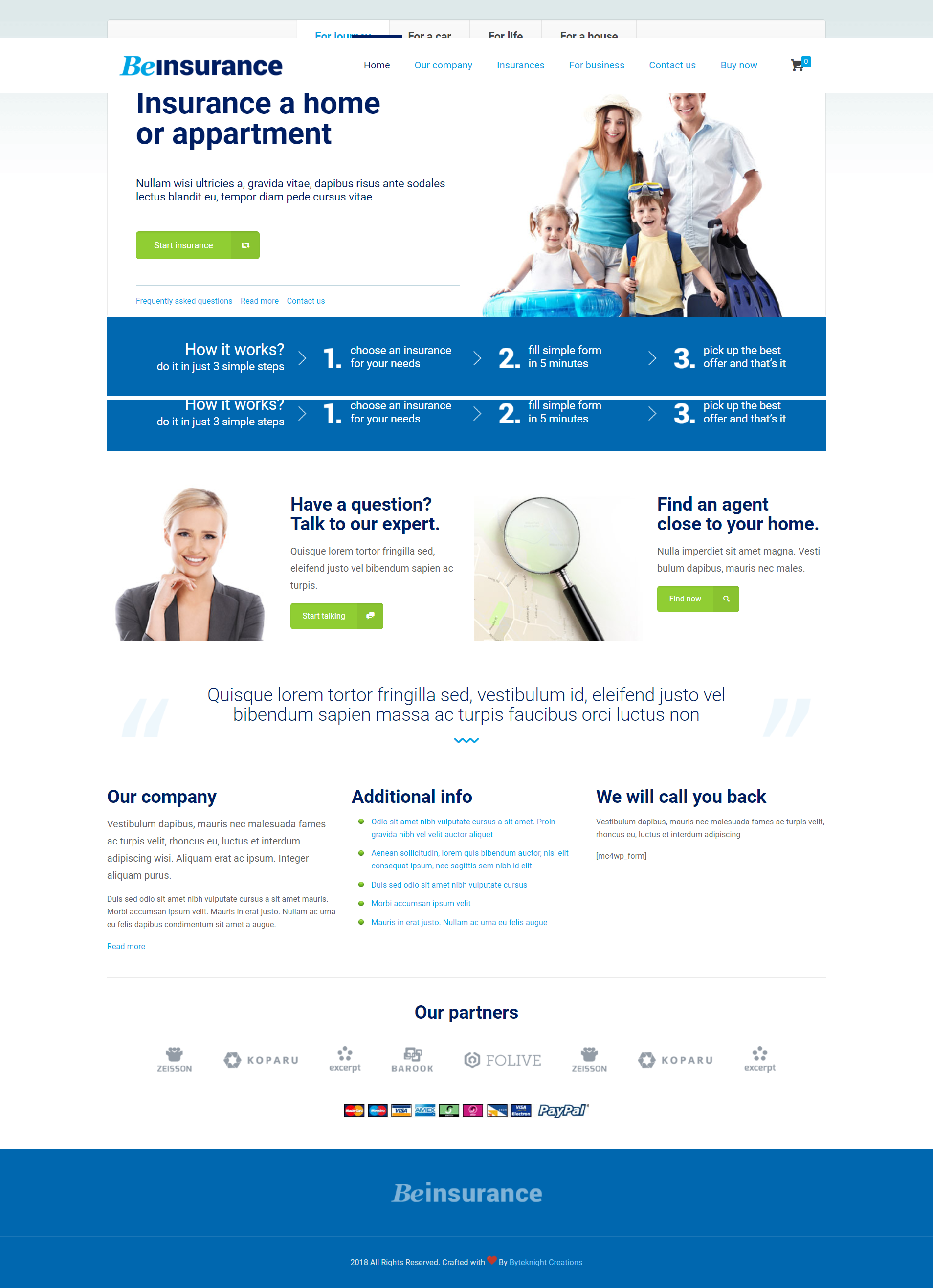Top Web Design Agency Byteknight Creations Insurance Company