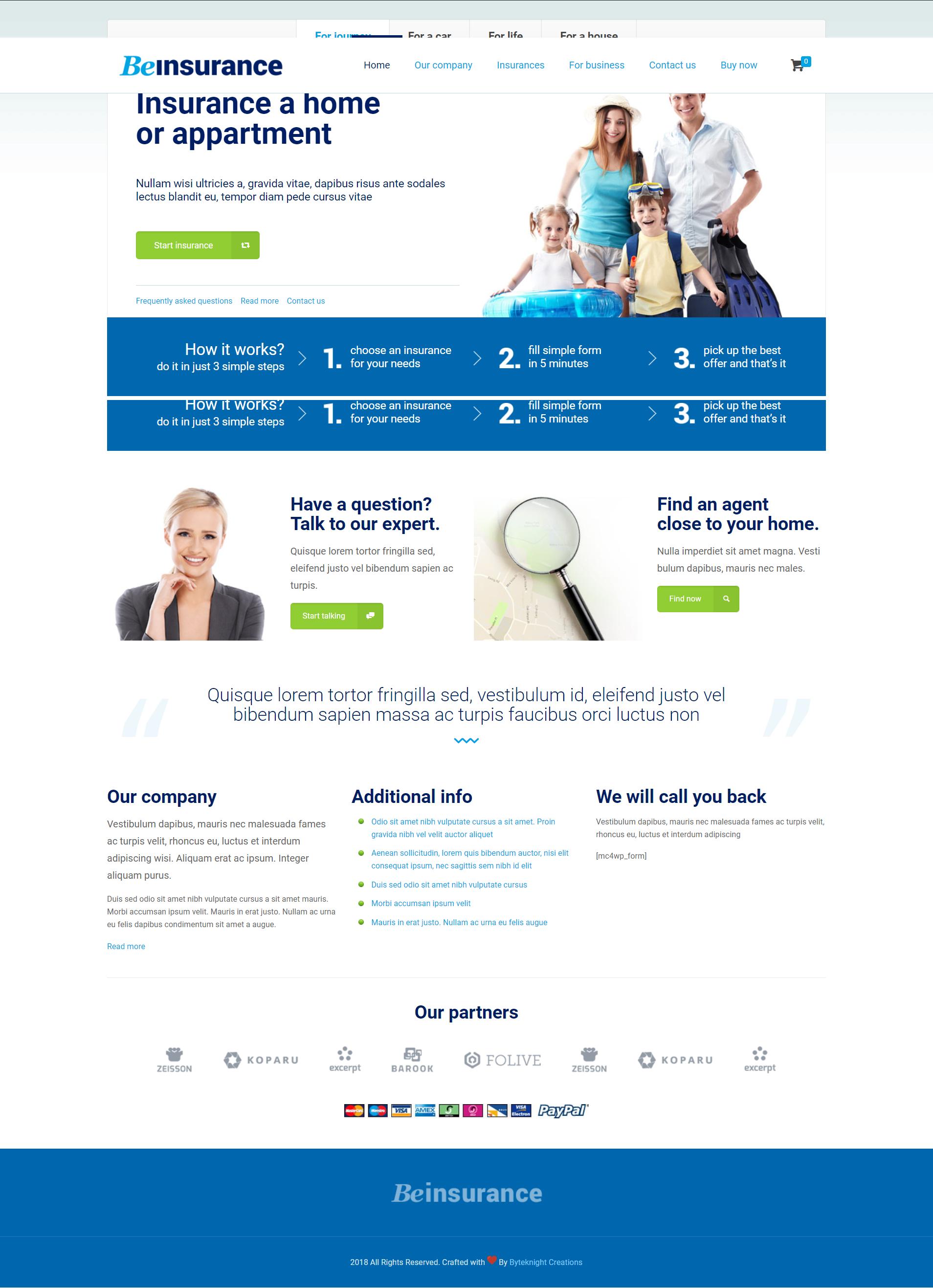 Top Web Design Agency Byteknight Creations Insurance