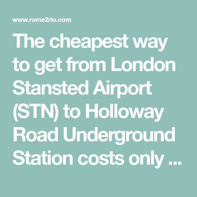 How Long Does It Take To Get To Stansted Airport