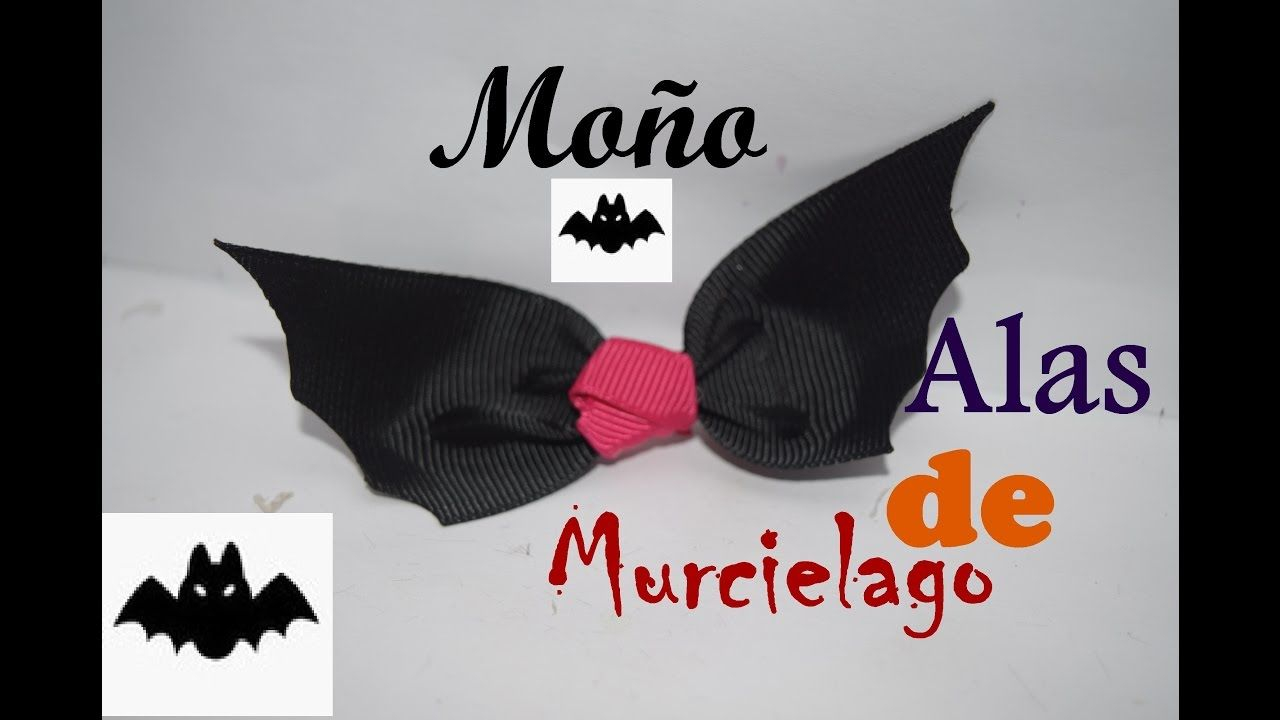 Moño para Halloween - Murciélago - DIY - Hair Bow #4