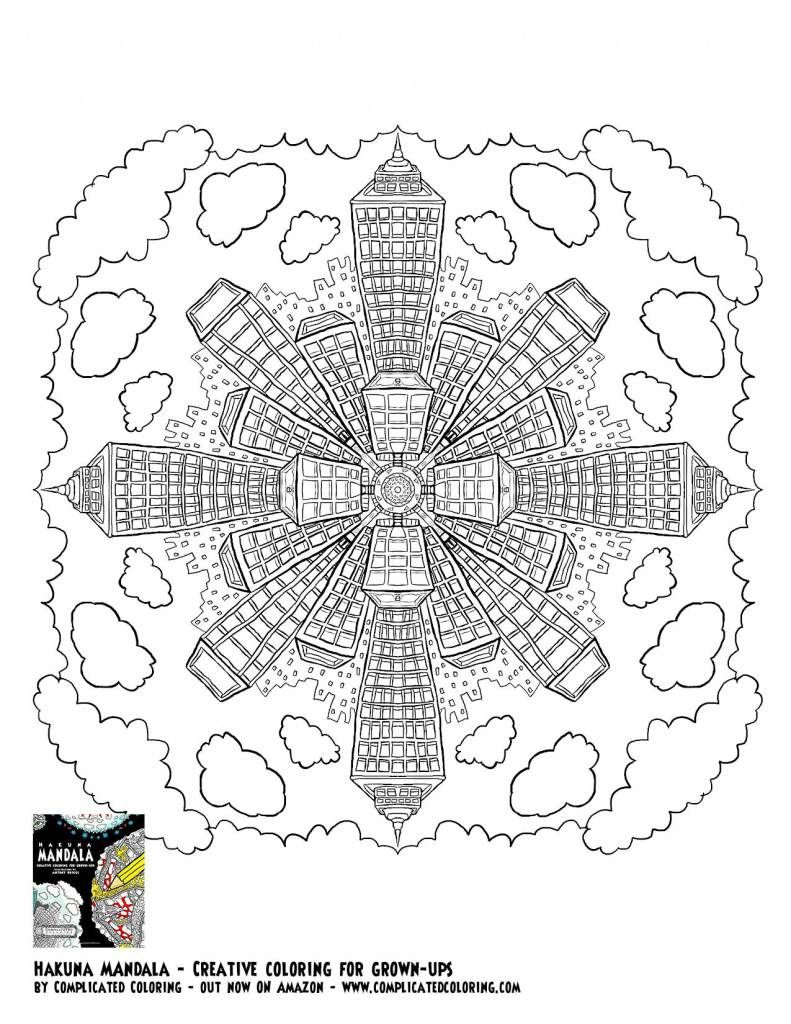 Free Printable Coloring page - complicated coloring | Projects to ...