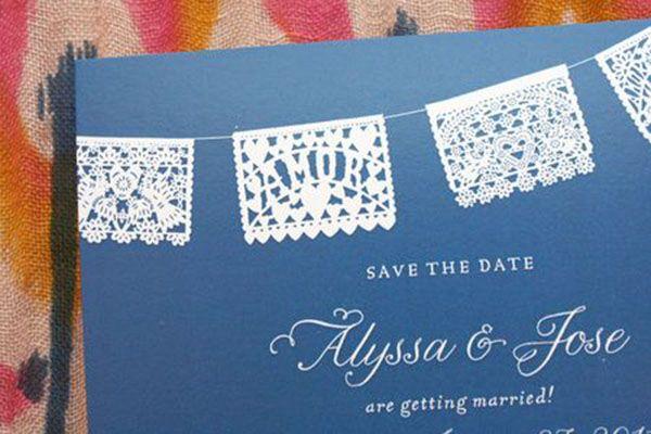 Papel Picado Save The Dates Formal Wedding Our Dream Destination