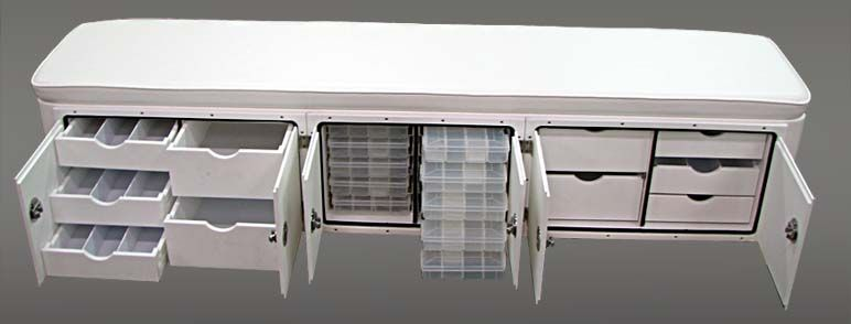Bench Seat Tackle Station Pontoon Boat Accessories Pontoon Boat