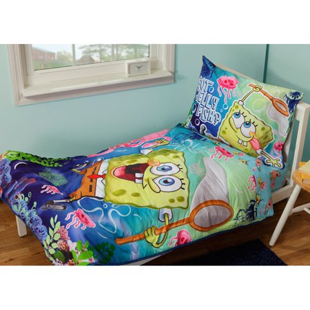 Spongebob Jelly Fish 4 Piece Toddler Bedding Set Assorted