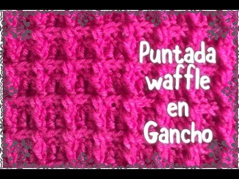 Puntada waffle stitch, fácil y rápida para cobijita de bebe #32 ...