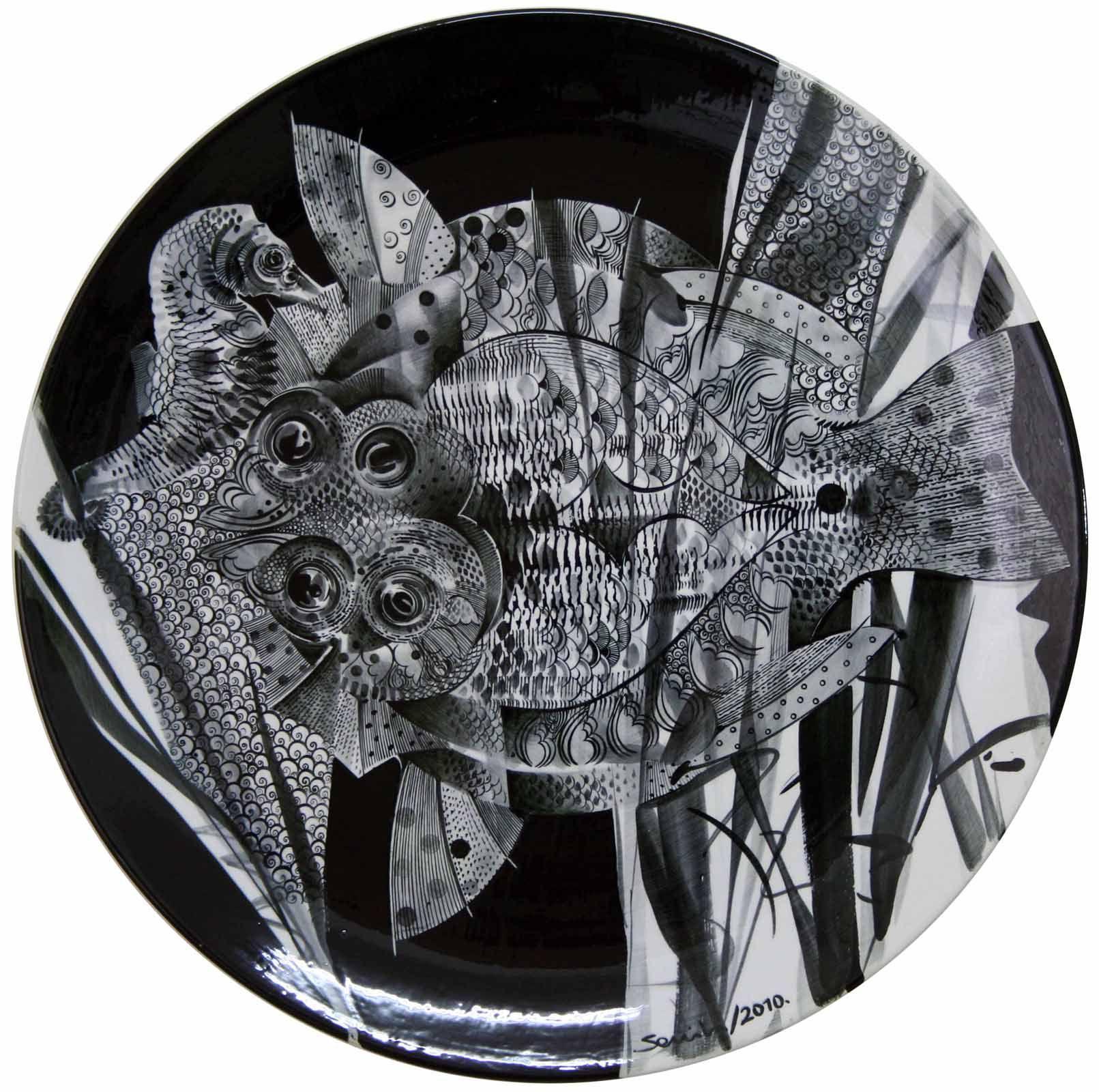 Semih Kaplan ceramic plate, diameter:51 cm, 2010