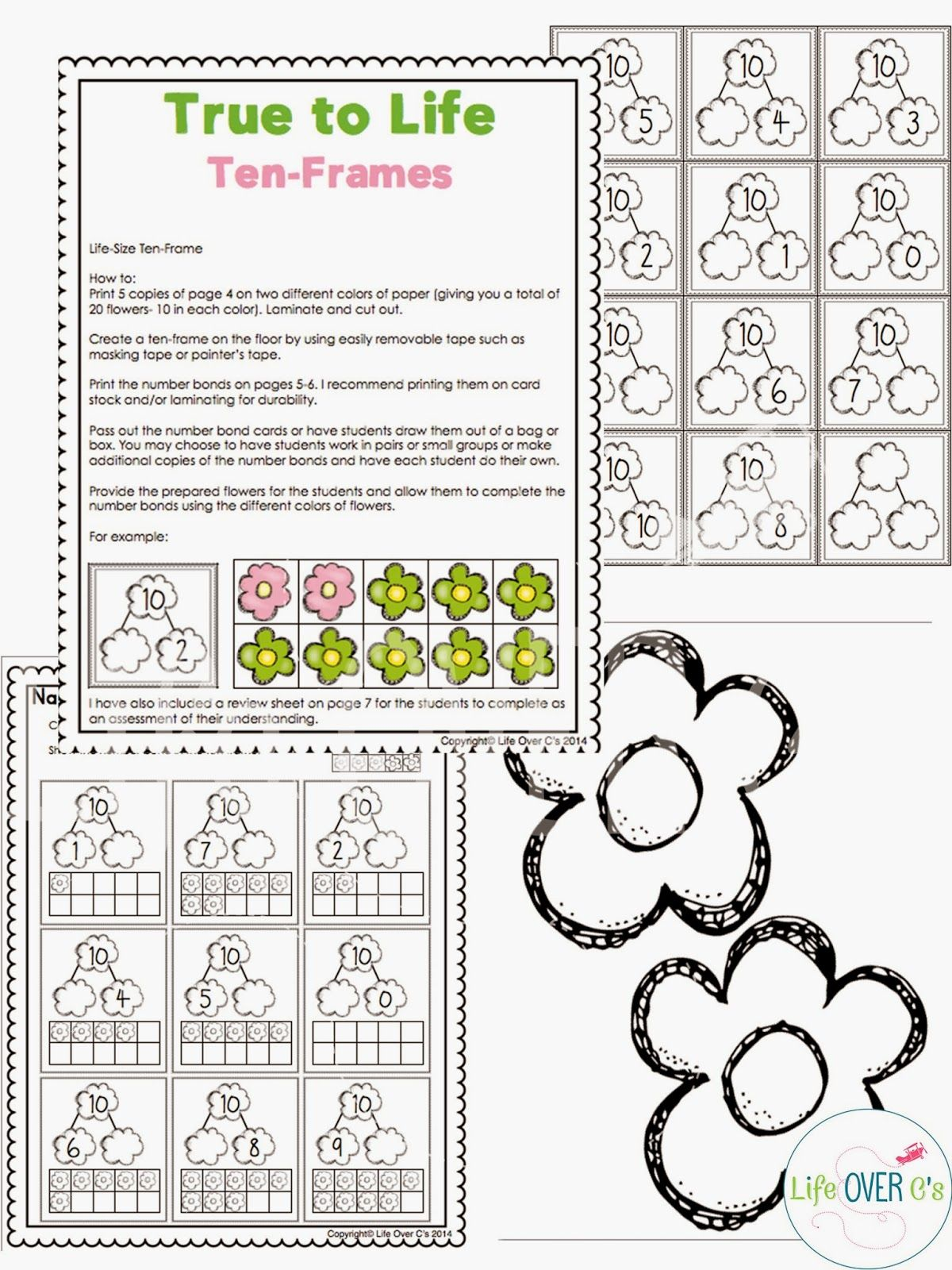 Super Fun Interactive Math Ideas Free Printables