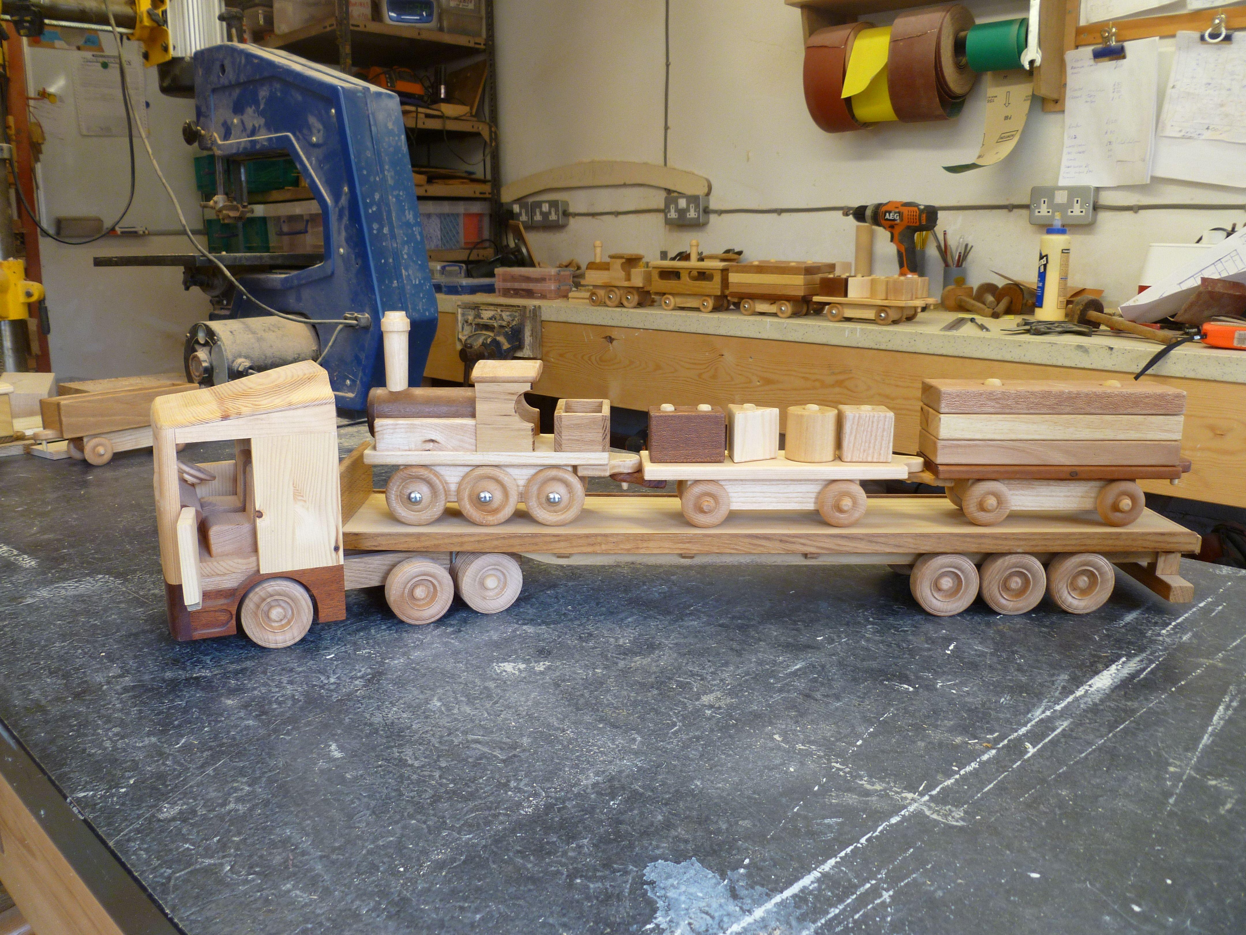 artic lorry wagon hgv or lgv grandad's wooden toys make