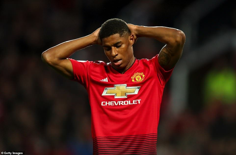ddc324386 Marcus Rashford was replaced by Alexis Sanchez in the second half after  failing to find th.