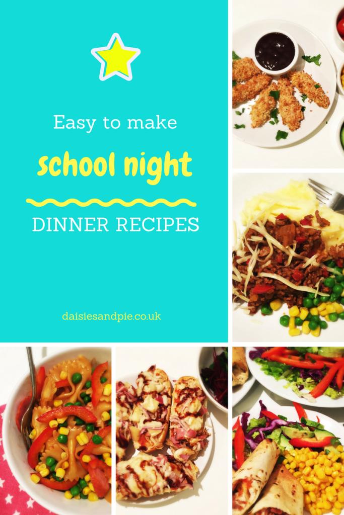 Easy School Day Dinner Ideas Easy Homeschool Meals Pinterest