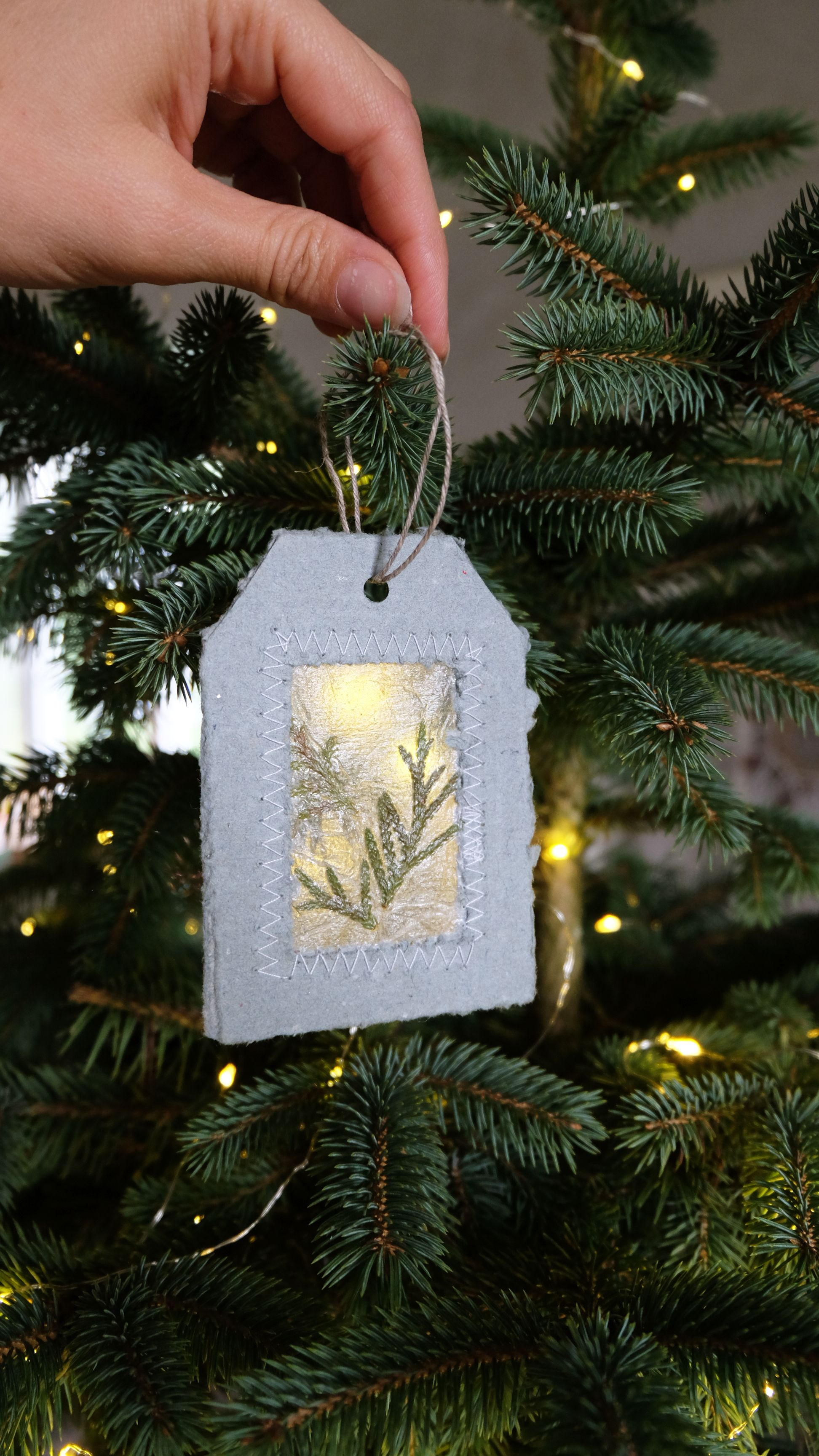 Gift Tags From Gray Recycled Paper With