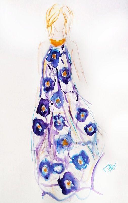 Fashion plate - Etro. Moramontti's Illustrations #ilustraciones #moda #fashion #illustrations