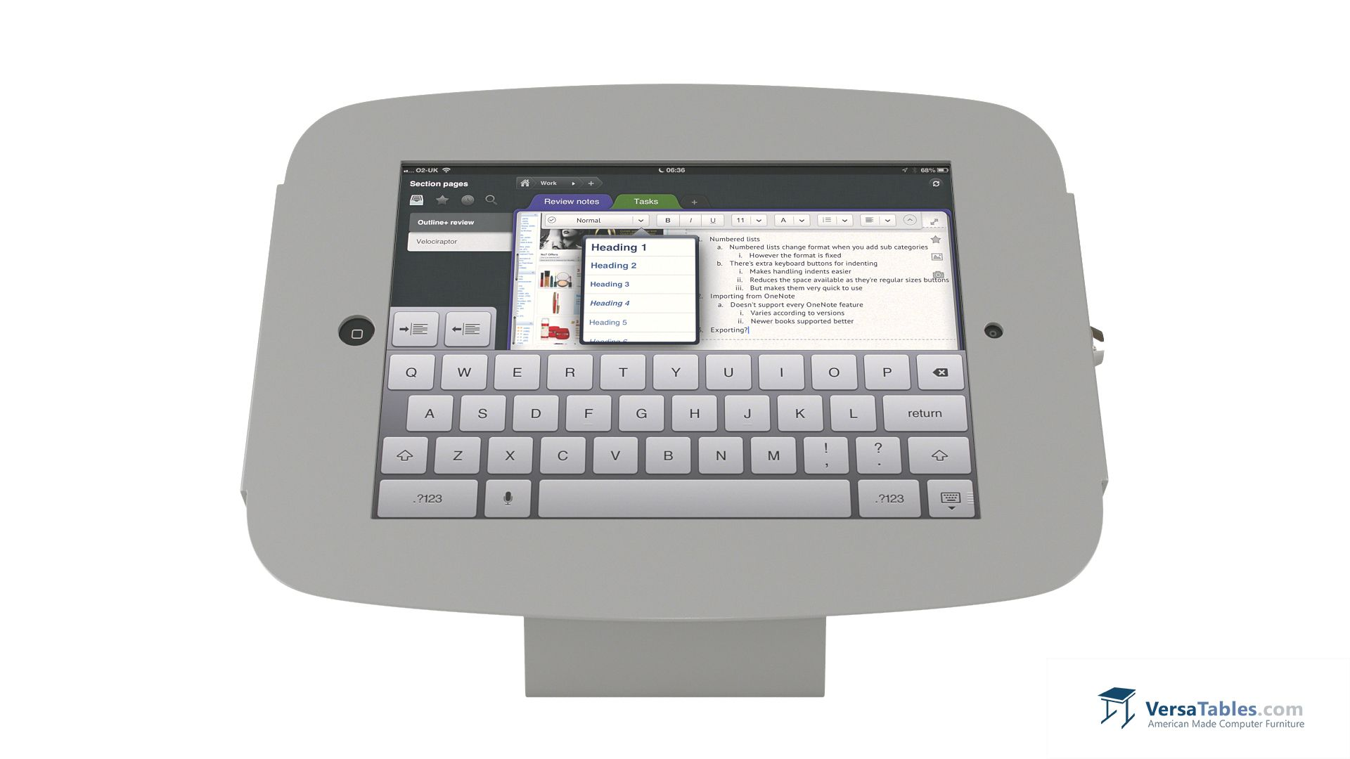 iPad Guardian Mount  IPADGM Series By Versa Tables