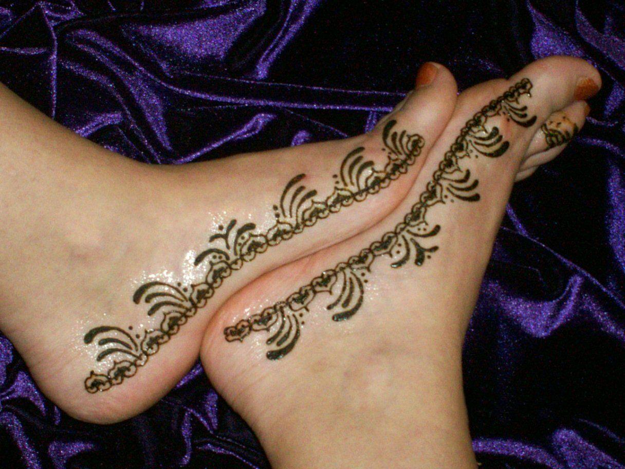 Henna Tattoo Designs On Foot: Pin Henna Feet Tattoo Design On