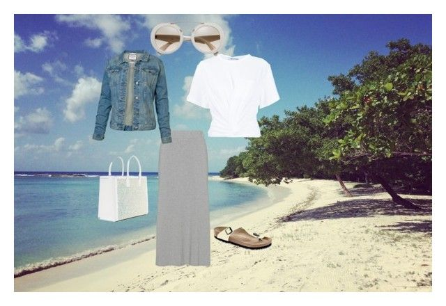 """""""Beach mornings"""" by sidne-alexander on Polyvore featuring T By Alexander Wang, Fat Face and Birkenstock"""