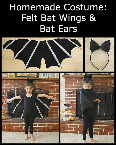DIY Bat Costume for Kids: Bat Wings and Bat Ears - Buggy and Buddy #mamp;mcostumediy