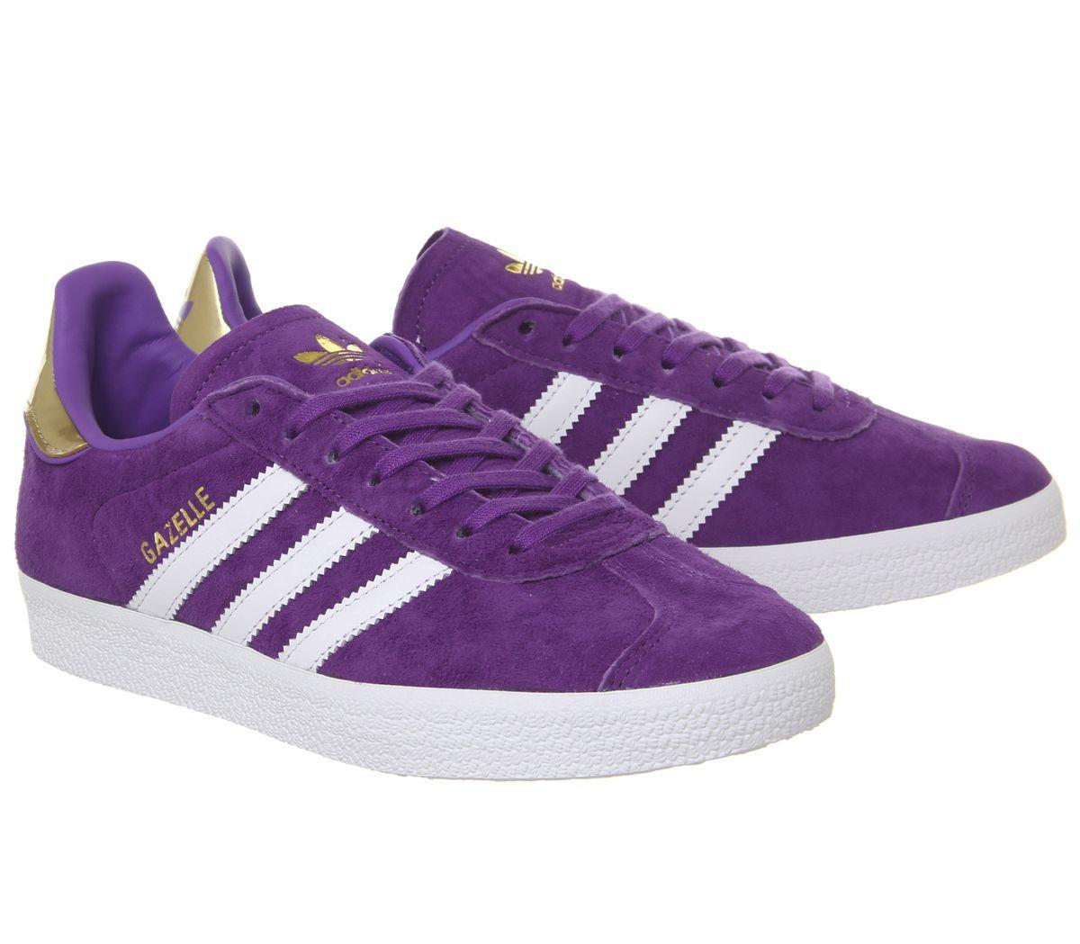 adidas Gazelle Trainers White Purple
