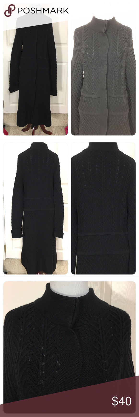 Faconnable long sweater coat | Long sweater coat, Long sweaters ...