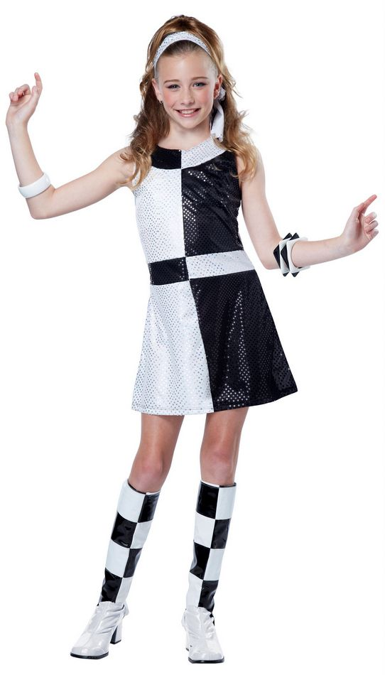 Tween Black/White 60u0027s Mod Costume - Candy Apple Costumes - Kidsu0027 70u0027s Costumes  sc 1 st  Pinterest & Tween Black/White 60u0027s Mod Costume - Candy Apple Costumes - Kids ...
