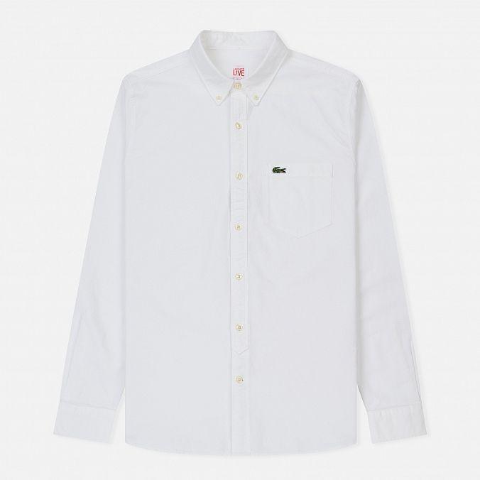 c29d12bb9a9f Мужская рубашка Slim Fit Oxford Cotton White White   папа   Lacoste ...