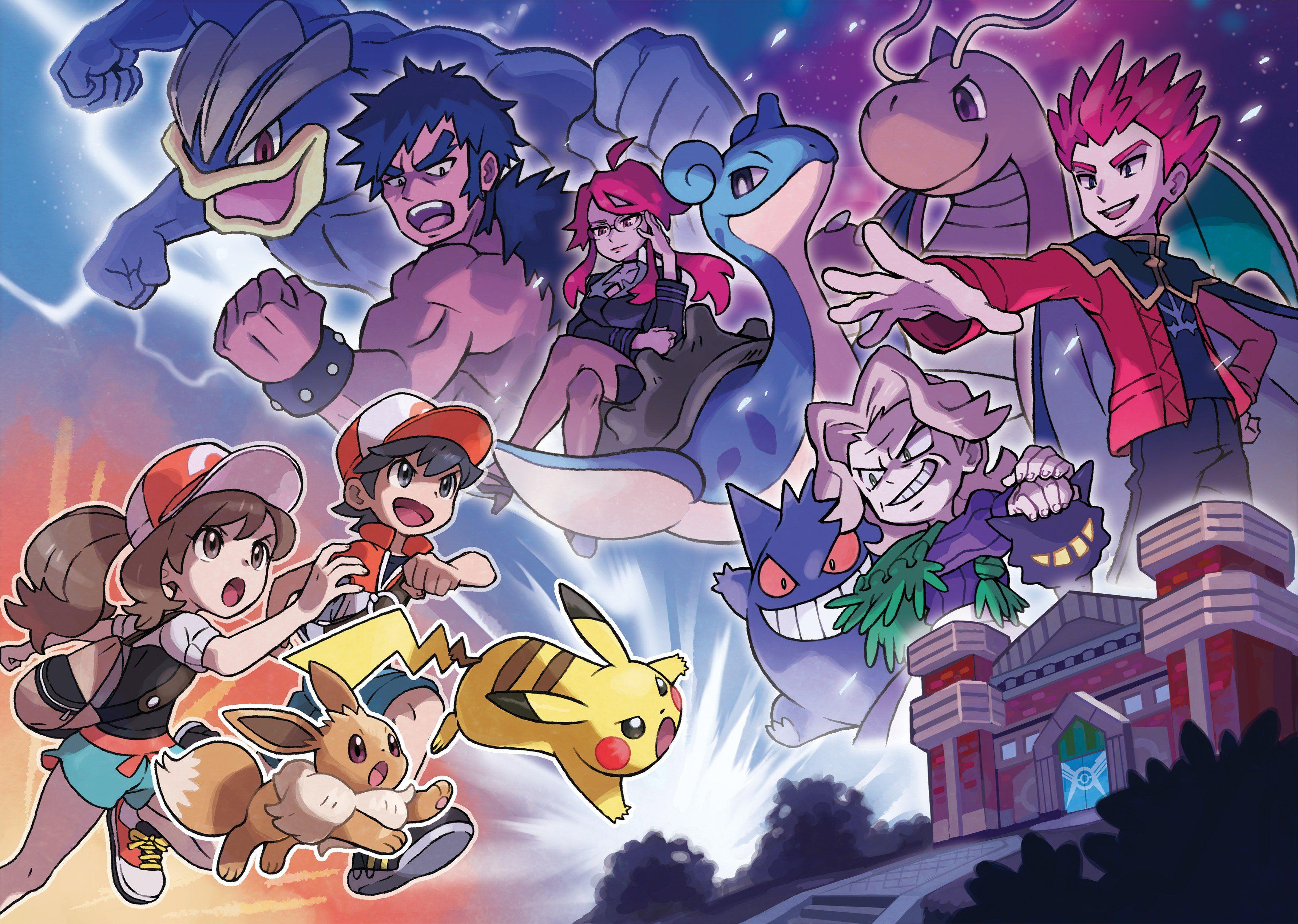 Elaine Chase Eevee And Pikachu Face Against The Kanto Elite 4 And Their Respective Pokemon Lorelei Lapras Bruno Machamp Fotos Do Pokemon Pikachu Pokemon