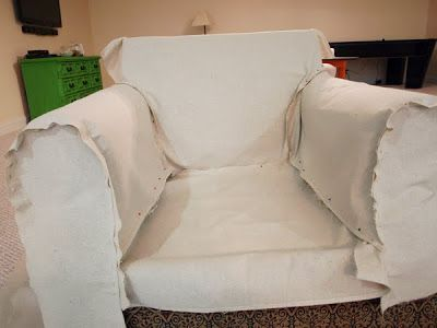 How To Slipcover A Chair The Easy Way!
