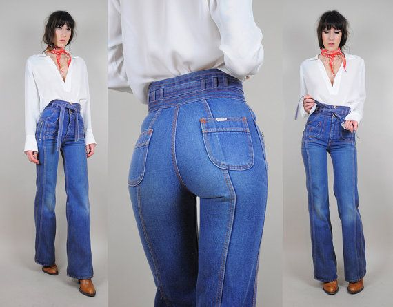 Vintage 70's high waisted jeans