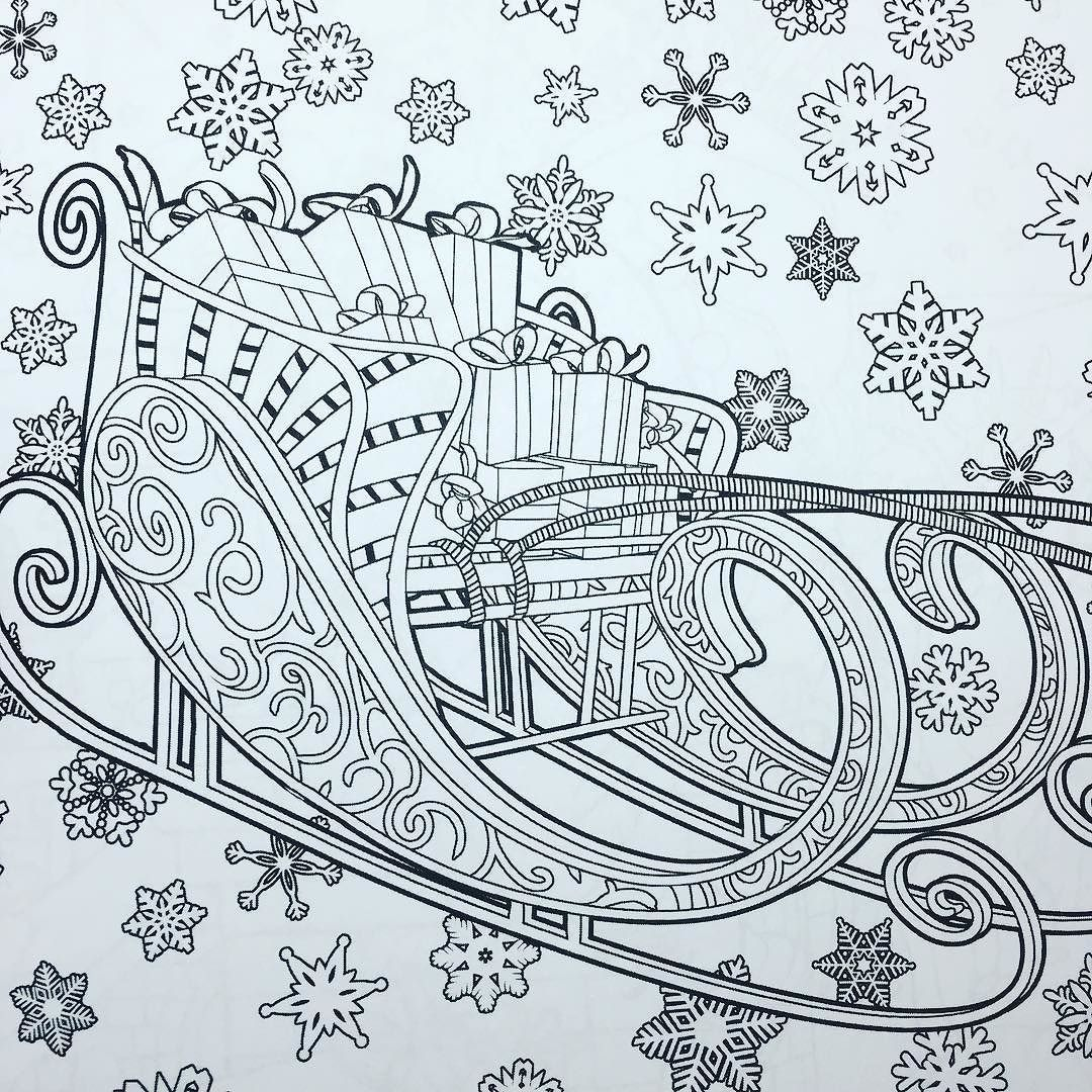 """Santa's Sleigh - from """"Magical Winter Holidays"""" Coloring ..."""