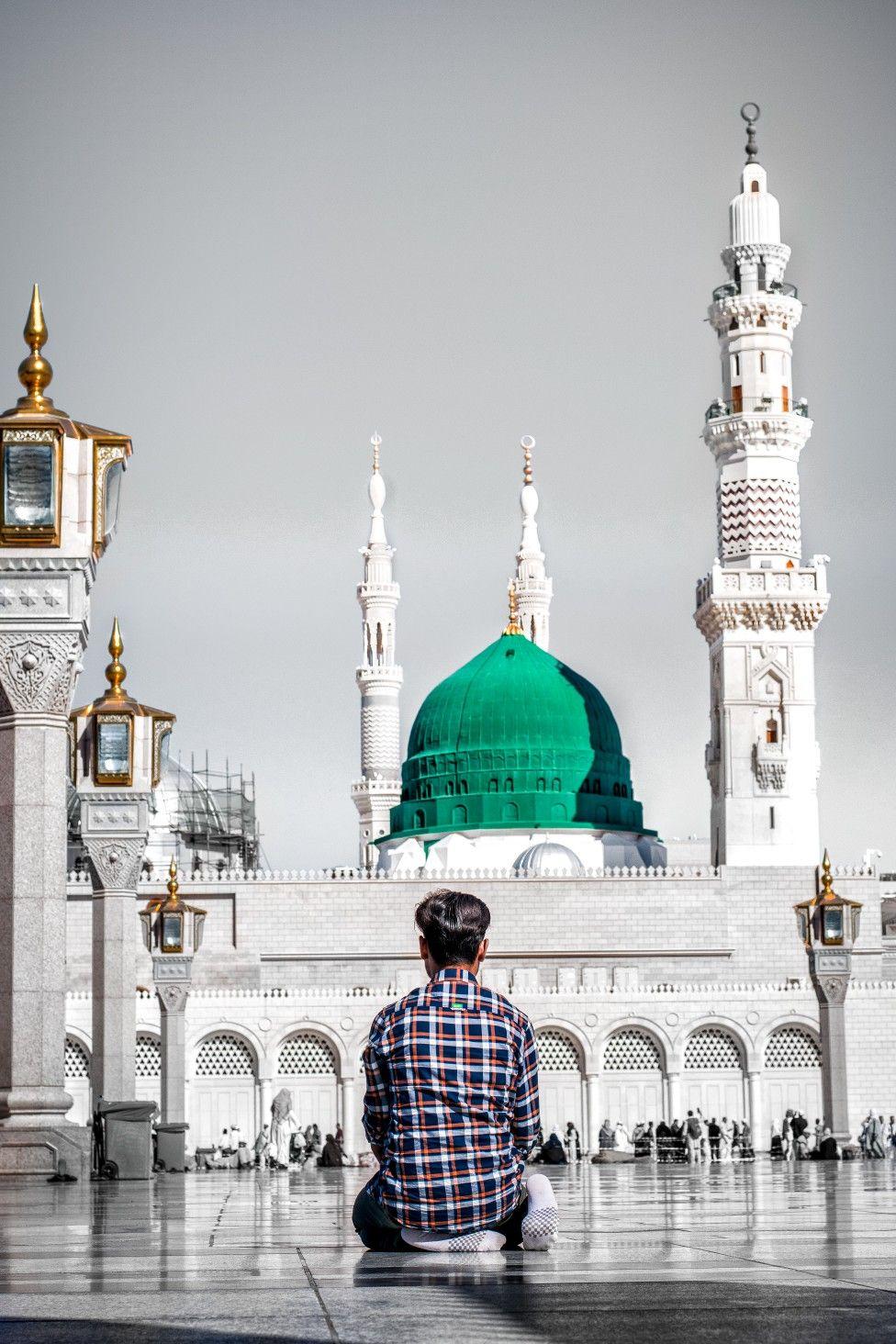 madina #nabi #masjid #mosque #color #buildings #urban #mecca #street