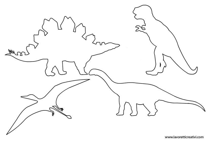 Disegno Dinosauri Per Bambini.Sagome Dinosauri Dinosauri Sagome E Attivita Per Ragazzi