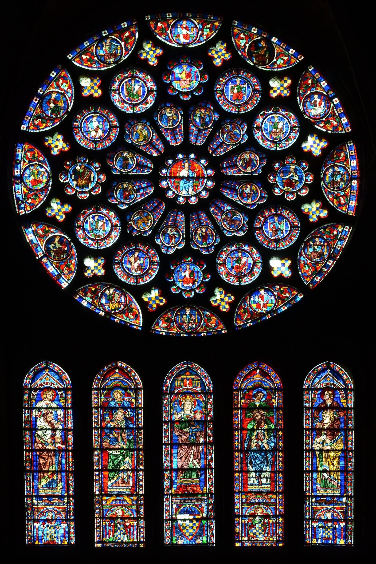 rose window round poster Notre Dame de Paris