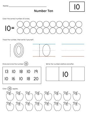 Numbers 1 20 Count And Write Activity Set Numbers Preschool