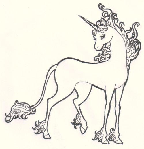 Pin By Astrid Carter On English The Last Unicorn Unicorn Tattoos Art