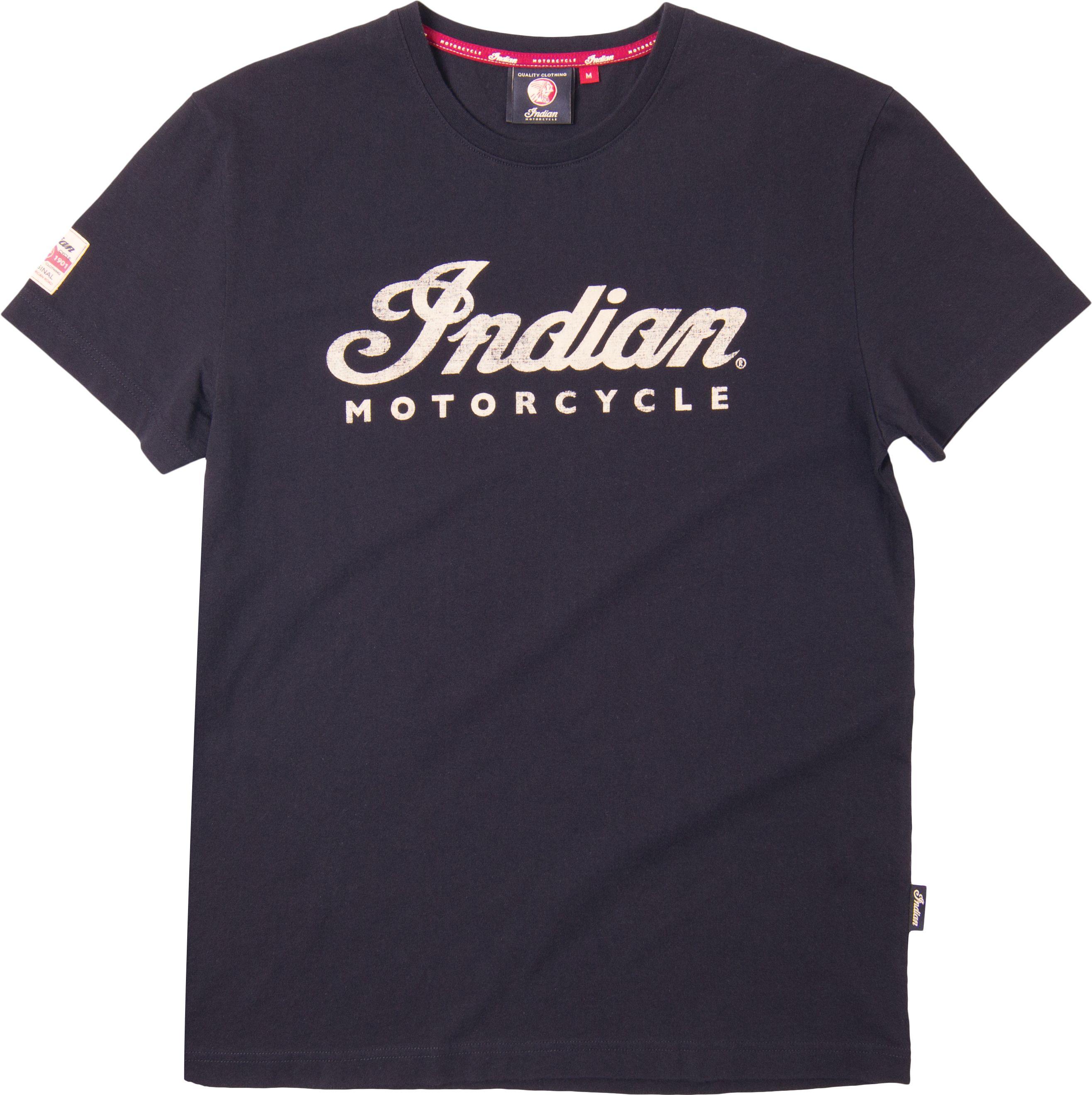 Tee Ecru Logo Indian Motorcycle TShirt Indian