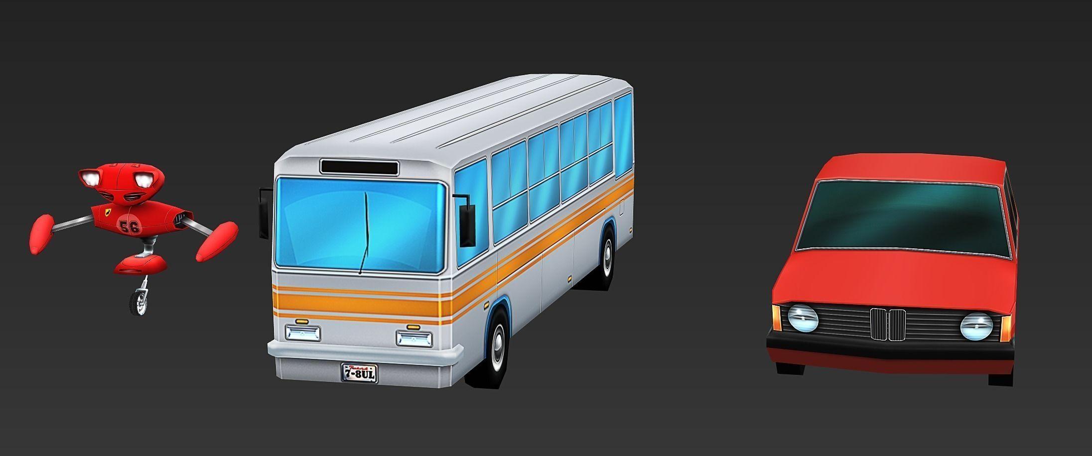 3d models cartoon vehicles