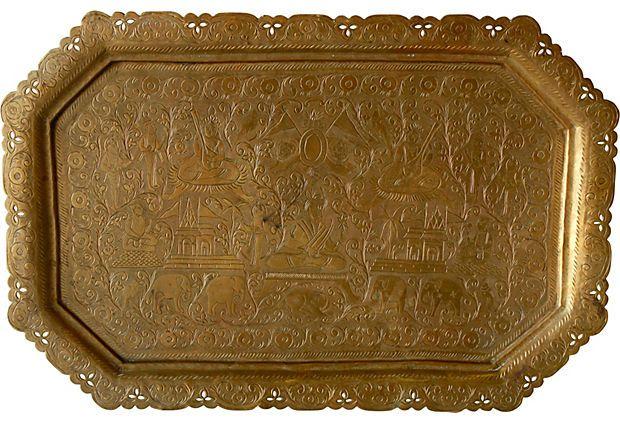 Indian Engraved Tray on OneKingsLane.com