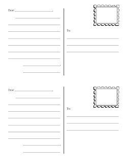 Draw Your Own Postcard Postcard Template Free Printable