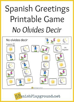 Spanish greetings game printable board spanish greetings spanish children practice basic phrases with this printable spanish greetings game games m4hsunfo