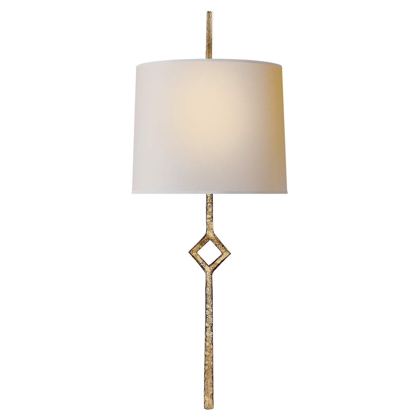 Circa Lighting Cranston Small Sconce Gilded Iron with Natural Paper ...