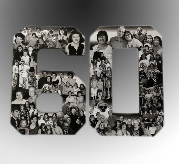 Birthday Photo Collage Custom Milestone Bithday Collage Numbers