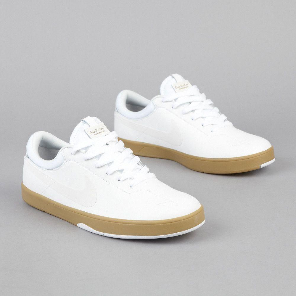 finest selection fac98 c057c Nike SB Eric Koston One White / Swan - Gum Light Brown - Black Black  Sneakers