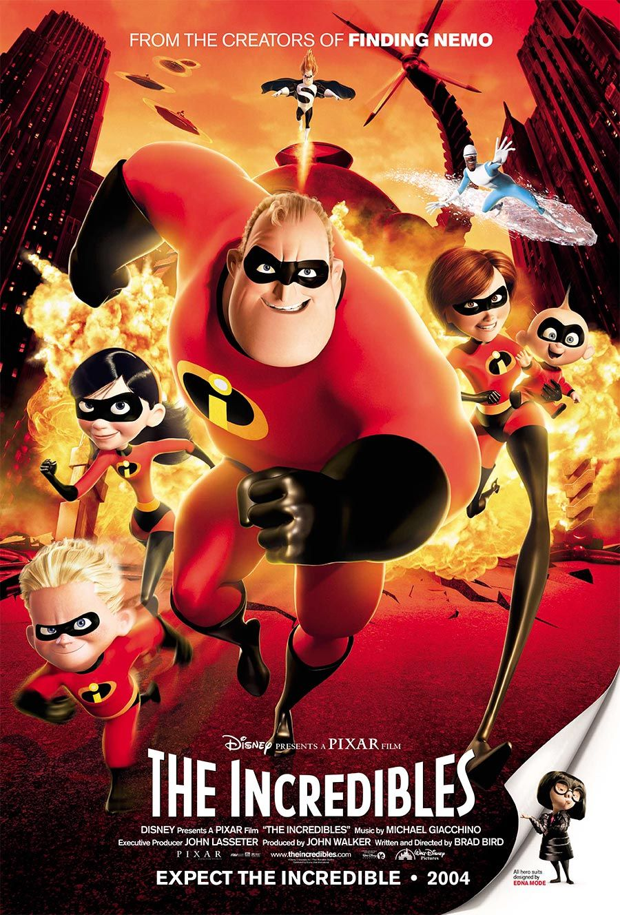 Today In Disney History Ten Years Ago The Incredibles Was First Released In Theaters Kid Movies The Incredibles 2004 Kids Movies