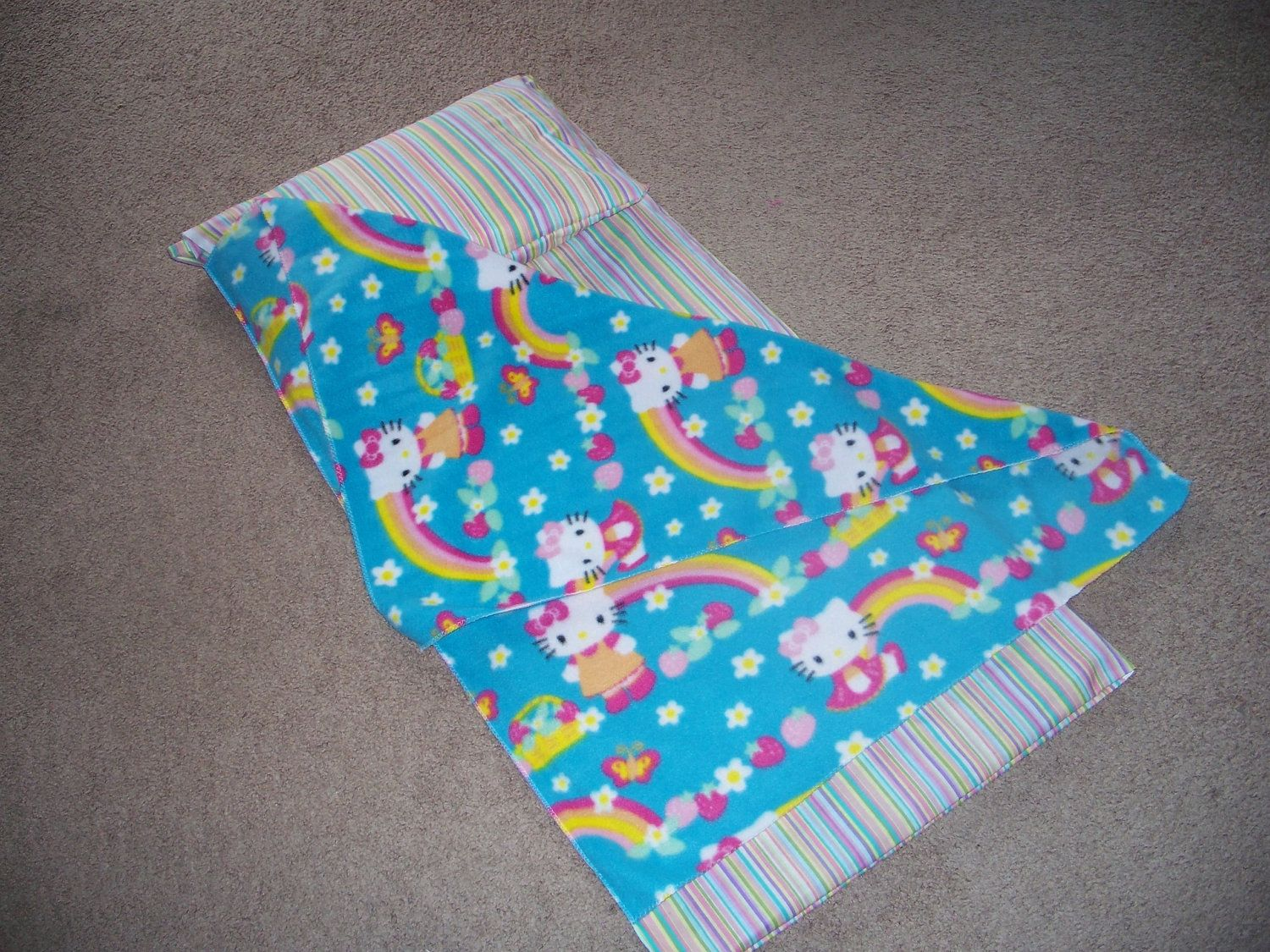Hello Kitty Kindergarten Nap Mat Cover Pillow And Blanket