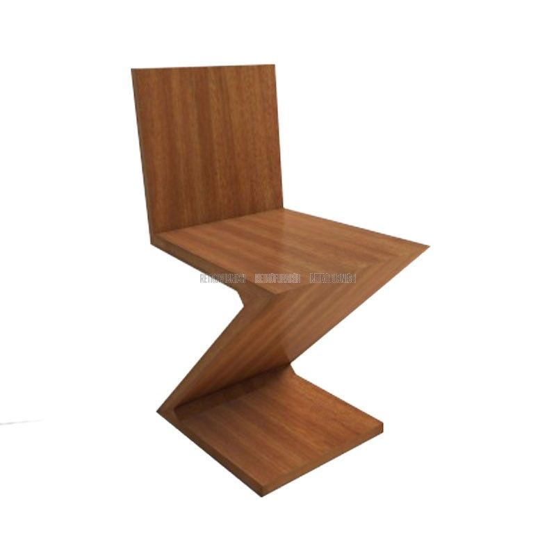 Zigzag Chair Rietveld Replica Design Meubelen Zigzag Chairs Chair Furniture Upholstery